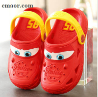 Kids Garden Shoes Summer Cartoon Car Hollow Cute Hole Non-slip Children's Beach Breathable Sandals