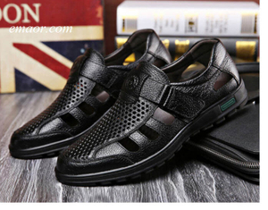 Gladiator Vionic Sandals Men's Breathable Leather Super Light Summer Wedge Sandals