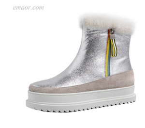 Best Snow Boots for Women Sperry Snow Boots Mixed Colors Snow Boots Women Outdoor Fur Zipper Sliver Platform Boots Columbia Winter Boots