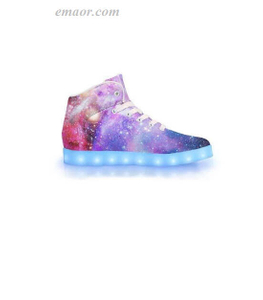 Best Led Light Shoes Intergalactic-APP Controlled High Top LED Shoes Amazon