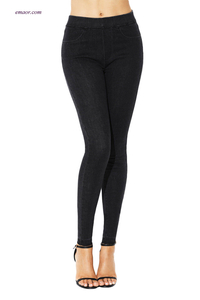 Jeans Wholesale Elastic Waist Jeans Stretch Pants for Women