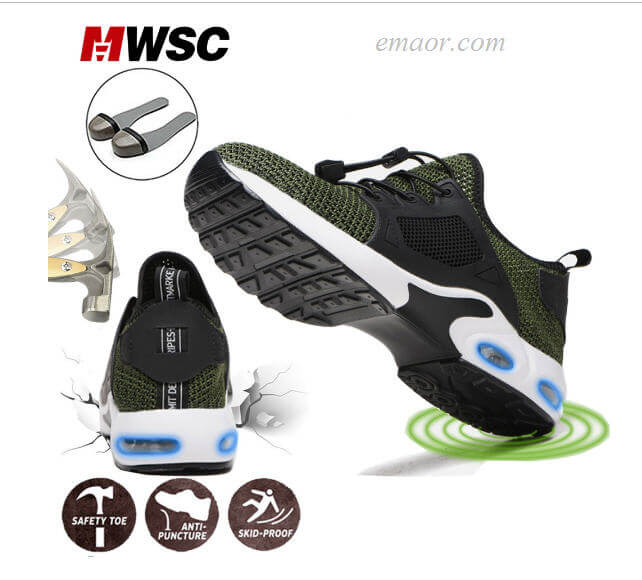 Safety Boat Shoes Work Safety Breathable Construction Safe Steel Toe Cap Shoes Lightweight Male Shoes Work Boots
