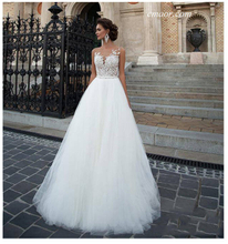 Lace Wedding Dress Beach Bridal Gown Tulle Lace Appliques Princess Wedding Dresses