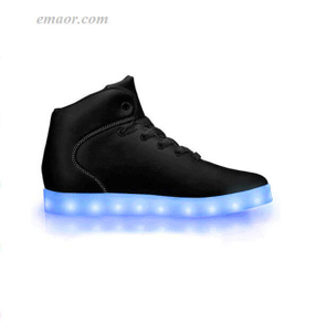 Led Walk Light Up Shoes Black Out-APP Controlled High Top LED Shoes Energy Light Up Shoes Wish Light Up Shoes
