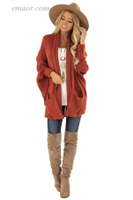 Current Seen Outerwear Batwing Sleeve Cardigan Casual Outerwear on Sale