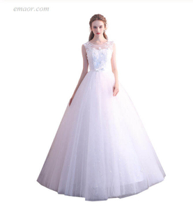 Formal Dresses for Weddings Bride Married Princess Simple Wedding Dresses for Women