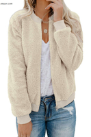 Outerwear Women's Long Sleeve Zipper Sweatshirt Soft Outwear