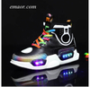 LED Shoes Children USB Charge Colorful Led Back Light Shoes Sneakers Boy's Glowing Sneakers Kid's Shoes