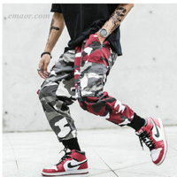 Cargo Pants Camouflage Splice Joggers Pants Men's Cargo Pants on Sale Cargo Pants