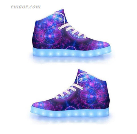 Fashion Led Tennis Shoes Blue & Pink Fractal-app Controlled Low Top Led Shoes Best Light Up Shoes Flashing Light Shoes