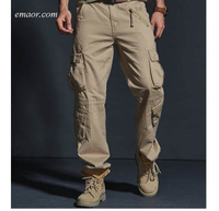 Hot Tactical Mens Cargo Pants Cheap Cotton Casual Multi-Pocket Military Men Pants