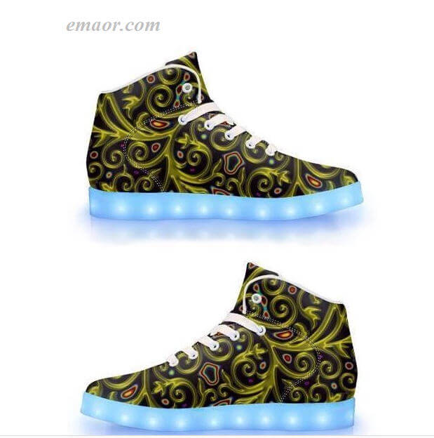 Wholesale Light Up ShoesAquanautic- App Controlled High Top Led Shoes Light Up Shoes on Sale