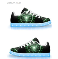 Grown Up Light Up Shoes Flash Light Up Shoes Anahata-APP Controlled Low Top LED Shoes Led Light Up Shoes