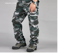 Cheap Camouflage Pants Men's Casual Camo Cargo Trousers Pants on Sale