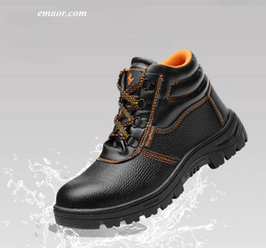 Men's Safety Shoes Work Boots Men Safety Shoes Waterproof Non-slip Work Shoes Composite Toe Work Boots