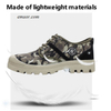 Safety Walking Boots Safe Step Men's Shoes Safe Camo Spring Mesh Breathable Casual Shoe Men Work Sneakers Workforce Safety Shoes