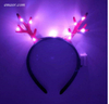 Glow in The Dark Headband Flashing Antler Hairband Light LED Deer Horn Headband Party