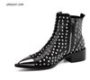 Female Dress Boots Ariat Female Boots Fashion Buckle Genuine Leather Rivets Motorcycle Ankle Boots Female Dress Boots