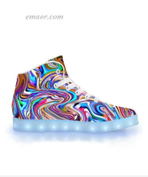 Led Walk Shoes Amazon Lucid Dreams-APP Controlled High Top LED Shoes Energy Lights Trainers