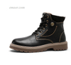 Men Leather Boots Cheap Work & Safety Boots Comfortable Winter Warm Shoes Male Motorcycle Work & Safety Boots