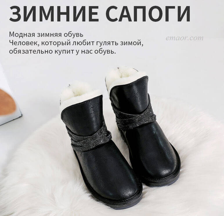 Hot Snow Boots Breath of The Wild Snow Boots Women's Winter Boots Women Ankle Boots for Women Genuine Leather Boots Best Snow Boots for Women