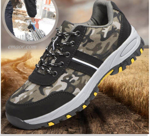 Safety Boat Shoes Climbing Hiking Camouflage Sport Work Safe Shoes Hiking Safety Shoes Safe One Safety Shoes