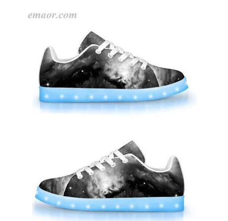 Popular Light Up Boots Black&white Cosmos-app Controlled Low Top Led Shoes Light Up Trainers Light Up Shoes on Sale