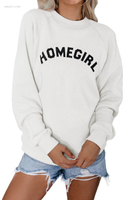 Outerwear Affordable Women's Outerwear Best Printed Long Sleeve Pullover Casual Sweatshirt Outerwear