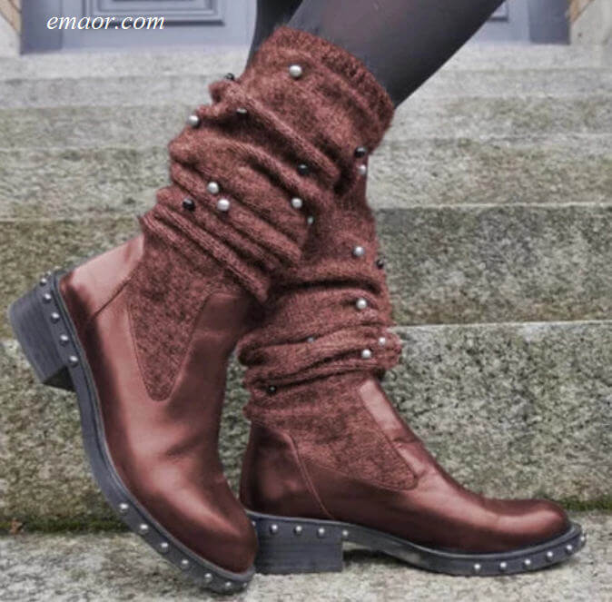 Tall Boots for Women Best Winter Boots for Women Lady Flat Heels Comfortable Shoes Women's Botas Mujer Best Winter Boots for Women