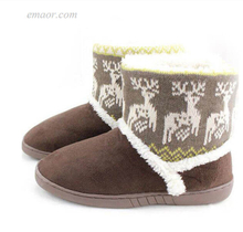 Girls Winter Boots Deer Print Winter Snow Booties Women Thicken Warm Boots for Snow Winter Snow Boots