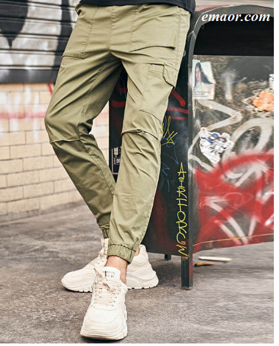 Cheap New Summer Men's Cargo Pantsn Casual Solid Cotton Pants on Sale