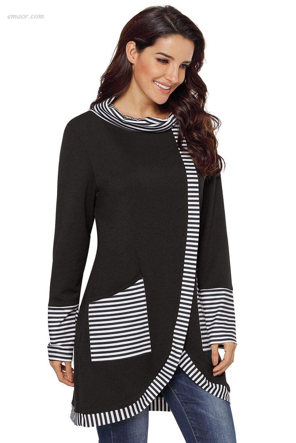 Wholesale Outerwear on Sale Striped Cowl Neck Top Free Country Outerwear Coupons Gallery Plus Size Outerwear