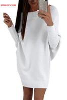 Hot Wholesale Stylish Long Sleeve Baggy Women's Sweater Dress on Sale