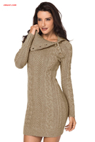 Formal Dresses Maxi Dresses Gray Women's Hand Knitted Sweater Dress Flower Girl Dresses on Sale